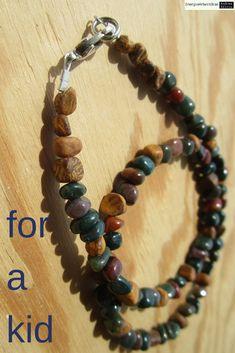 * HELIOTROP SCHLANGENJASPIS KETTE * Bloodstone Elephant Skin Jasper Necklace Necklaces, Bracelets, Jasper, Elephant, Ebay, Children, Jewelry, Bangles, Boys