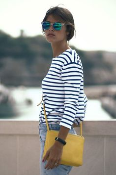 Breton stripes and yellow is a match made in heaven!