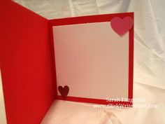 Valentine Day Card created using Creative Memories Watercolor love product.