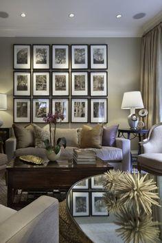 Love the tree picture wall arrangement.  Tom Stringer Design Partner
