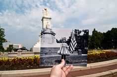 """Looking Into the Past: Child As 'Liberty' - Peace Monument, Washington, DC by Jason Powell - """"In commemoration of Independence Day, here is one of my all-time favorites.   The original photo was taken in 1916 during a Fourth of July celebration,   and I think it's the most adorable photo taken that year (...). Although a few things have changed (...)    this is still prettly close to what   it looked like."""""""