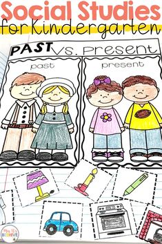 Past vs. Present Freebie Teach your kindergarten students about the past vs the present with this engaging freebie. Works perfectly with Thanksgiving units! Kindergarten Social Studies Lessons, Social Studies Projects, Social Studies Curriculum, Social Studies Lesson Plans, Social Studies Activities, Kindergarten Lesson Plans, Teaching Social Studies, Kindergarten Activities, Elementary Social Studies