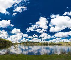 Clear blue skies in Haliburton Highlands.