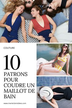 10 patrons pour coudre un maillot de bain / Sewing Patterns swimming suits
