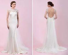 vestido de noiva com decote bordado e cauda em tule de gemy maalouf 2016