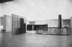 sigsum: Lilly Reich and Mies van der Rohe, Deutsche Seide, 1929 Stage Design, Art Object, Historical Photos, Architecture Design, Places, Interior, Artwork, Modernism, House