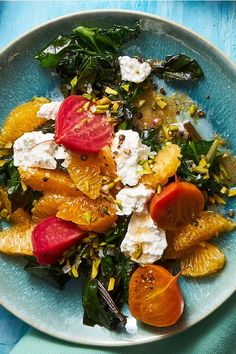 This beet salad recipe incorporates tangerines, feta and pistachios to create the ultimate fall recipe. Whether you're eating this beet recipe as a snack, side dish, appetizer, light lunch or quick and easy weeknight dinner, it's a great choice for a fall recipe.#beetrecipes #fallrecipes #beetsalad #saladrecipes #healthyrecipes Beet Salad With Feta, Roasted Beet Salad, Pistachio Recipes, Beet Salad Recipes, Healthy Dishes, Healthy Recipes, Healthy Salads, Easy Salads, Fall Recipes