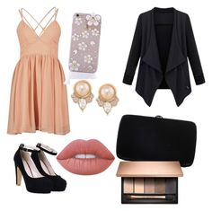"""dress to impress"" by haileycardona on Polyvore featuring Sergio Rossi, Carolee and Lime Crime"