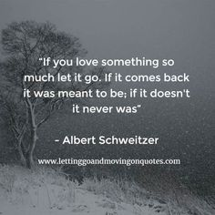 If you love something so much let it go