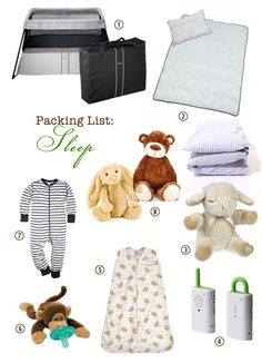 Packing List: What to bring when traveling with a one-year old (by plane, car, staying in hotels)