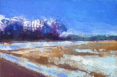 """""""Minervaville, Snow"""" original fine art by Mary Gilkerson"""
