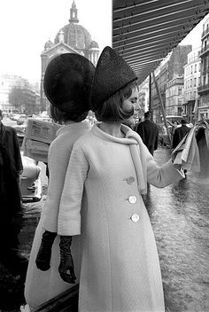 Fashion photo taken by Brian Duffy in Paris, for ELLE, March 1962.