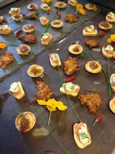 Large canapé selection from the kitchens of Maunsel House