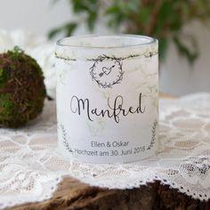 """Tischkarte """"Birke"""" als Windlicht zur Hochzeit bestellen!"""