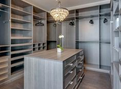 A large walk-in closet with ample storage space is an obvious must when you're fashion icons like Kim and Kanye.