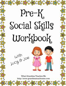 Pre-K Social Skills Workbook - Social skills for preschoolers are important steps to prepare your child for the many interactions that he or she will e Preschool Social Skills, Social Emotional Activities, Emotions Activities, Social Skills Lessons, Social Skills For Kids, Preschool Curriculum, Coping Skills, Homeschooling, Preschool Workbooks