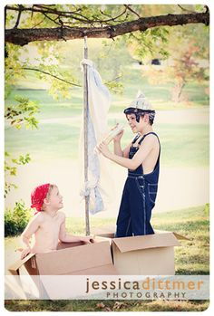 Pirate photo shoot idea - perfect for a summer day at the lake.