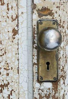 Old Skeleton Key Lock & knob--but the door is just as important...