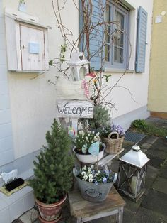 Die 11 Besten Bilder Von Hauseingang Deko House Entrance Backyard
