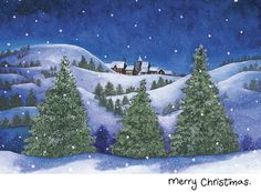 10 Inspiring Village Scenes Christmas Cards Images Snow Scenes