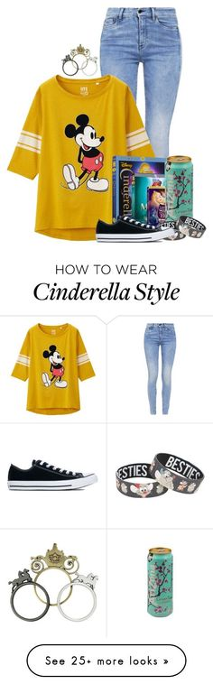 """""""Disney!"""" by xxxmakeawish on Polyvore featuring G-Star, Uniqlo, Disney and Converse"""