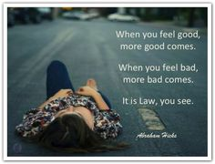 .. bad, more bad comes. It is Law, you see