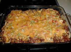 Taco Casserole Recipe - My Kitchen Magazine. Simple and basic but very good! Taco Casserole, Casserole Dishes, Casserole Recipes, Breakfast Casserole, Mexican Dishes, Mexican Food Recipes, Beef Recipes, Cooking Recipes, Kitchen Recipes