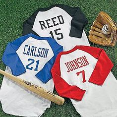 Personalized sports number kids t shirt cool stuff to buy sports jersey and romper personalized baby giftssports negle Image collections