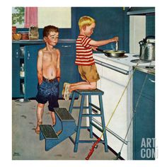 """Norman Rockwell  """"Small Fry""""  1958"""