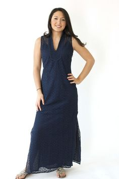 89ae80cdc54 The Rope Eyelet Sleeveless Maxi from Sail to Sable Flowing Dresses