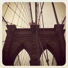 #newyork #nyc #brooklynbridge #sepia #usa #instagram
