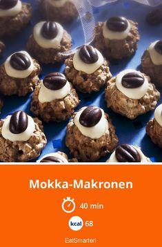 Mokka-Makronen - smarter - Kalorien: 68 kcal - Zeit: 40 Min. | eatsmarter.de Macaroons, Mocha, Eat Smart, Cereal, Cheesecake, Muffin, Xmas, Christmas Christmas, Sweets