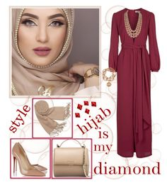 """""""hijab is my diamond"""" by jowy2 ❤ liked on Polyvore featuring Topshop, Givenchy, Chanel, Christian Louboutin, Forzieri and Louis Arden"""