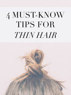 4 must-know tips on caring for thin/straight hair! #beauty #hair
