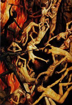 Hans Memling, Last Jugment, Hell, detail, 1467-1471