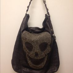 THOMAS WYLDE GRAY HANDBAG Thomas Wylde  Gray  Distressed Leather bag.100% Authentic. Great condition. Gray skull lining . This bag is rocker chic & fabulous! Thomas Wylde Bags