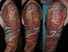 Phoenix full sleeve tattoo | Flickr - Photo Sharing!