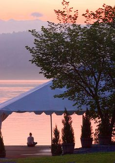 Starting the day off with yoga on Lake Champlain.  Also the venue for a beautiful wedding!