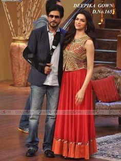 Shahrukh And Deepika Promote Chennai Express On Comedy Circus - arm in a sling Bollywood Sarees Online, Bollywood Photos, Bollywood Stars, Shahrukh Khan, Deepika Padukone Style, Kurti Patterns, Ghagra Choli, Ethnic Wear Designer, Lehenga Designs