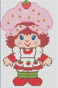 CHARMS IN POINT CROSS: Strawberry Shortcake