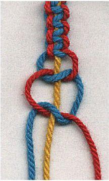 Square knots #handmade #jewelry #bracelet #friendship_bracelet #knotting #macrame