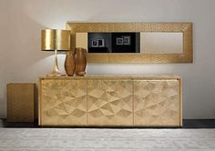 Home Collections by Fendi Casa. Golden Buffets, dining room buffet, modern buffet http://buffetsandcabinets.com/