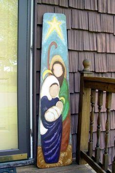 Hand Painted Holy Family / Nativity
