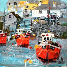 Mike Bernard RI Limited Edition Prints, Marine House - Marine House at Beer | Steam Gallery