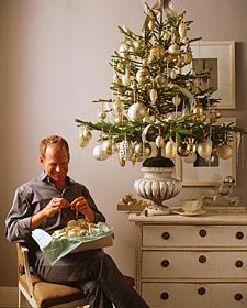how to trim a christmas tree love this potted treelove a - Martha Stewart 75 Foot Christmas Trees