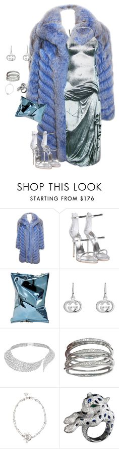 """""""Untitled #123"""" by stylebymalik ❤ liked on Polyvore featuring Giuseppe Zanotti, Anya Hindmarch, Gucci, Messika and Stephen Webster"""