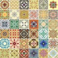 азулежу: 7 тыс изображений найдено в Яндекс.Картинках Patchwork Tiles, Stencils, Sampler Quilts, Decoupage Paper, Patterns In Nature, Tile Art, Floor Design, Tile Patterns, Textile Prints