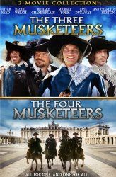 Richard Chamberlain, Oliver Reed, Michael York, and Frank Finlay in The Three Musketeers (1973)