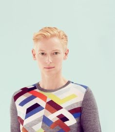 Tilda Swinton wearing Pringle of Scotland  Now they just need to make a men's version of that sweater.