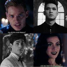 Season 1 Episode 12: Izzy, Jace, Alec, Magnus